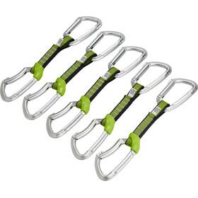 Climbing Technology Lime NY Cinta express Set 12cm Pack de 5, silver